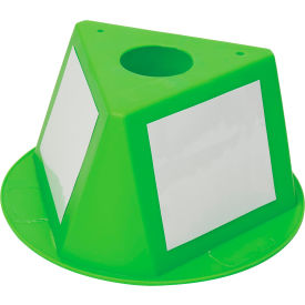 056CLIME Inventory Cone Lime 3-Sided with Dry Erase Decal
