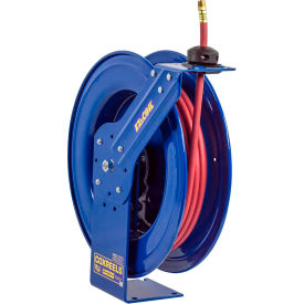 "EZ-SH-450 Safety Series Spring Rewind Heavy Duty Hose Reel Cap.: 1/2"" I.D., 50 Hose, 300 PSI"