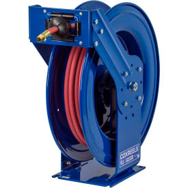 "TSH-N-475 Supreme Duty Spring Rewind Hose Reel For Air/Water: 1/2"" I.D., 75 Hose, 300 PSI"