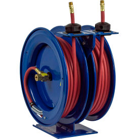 "C-LP-335-335 Dual Purpose Spring Rewind Hose Reel For Air/Water: 3/8"" I.D., 35 Hose Each, 300 PSI"