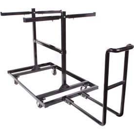 "queue ™ solutions steel barricade cart, 77-1/2""l x 74""w x 54-3/4""h, 30 barricades"