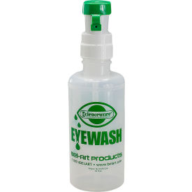 bel-art emergency eye wash safety station empty replacement bottle refill, 500ml, 16 oz.