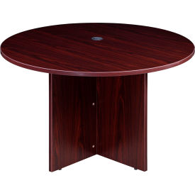 "N123GI-MOC  47"" Round Conference Table - Mocha"