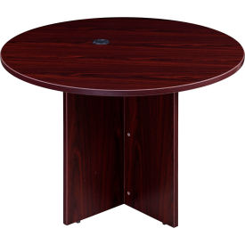 "N127GI-M 42"" Round Conference Table - Mahogany"