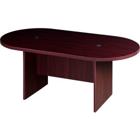 N135GI-M 6 Racetrack Conference Table  - Mahogany