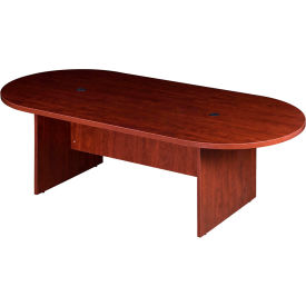 N136GI-C 8 Racetrack Conference Table  - Cherry