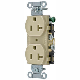 CRS20I Bryant CRS20I Commercial Grade Duplex Receptacle, 20A, 125V, Ivory, Side Wired