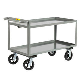 GL-2448-8MR Little Giant; Merchandise Collector GL-2448-8MR Tray Type Shelves 24x48 8x2 Rubber Wheels