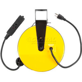 SL-800 Bayco; Triple Tap Extension Cord SL-800, Retractable Reel, 30L Cord, 16/3 GA, Yellow