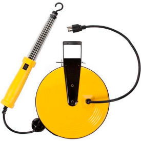 SL-864 Bayco; SL-864 60 LED Work Light, Retractable Cord Reel, 50L Cord, 18/2 GA, Yellow