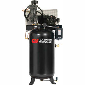 Campbell Hausfeld® CE7050FP,5 HP,Two-Stage Comp.,80 Gallon,Vert,175 PSI,17.2 CFM,1-Phase 230V