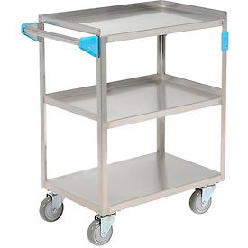 UC3031524 Carlisle; UC3031524 Stainless Steel Utility Transportation Cart 300 Lb. Capacity 24x15-1/2