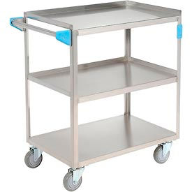 UC3031827 Carlisle; UC3031827 Stainless Steel Utility Transportation Cart 300 Lb. Cap. 3 Shelf 18x27