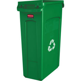 FG354007GRN Rubbermaid; Slim Jim Vented Recycling Container 3540-07 - Green