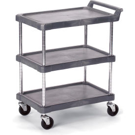 "J16UC3 Economical Polymer Utility Carts - 28""Wx17""D Shelf - 3 Shelves"
