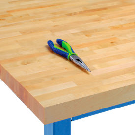 "WBT7230-V VARNIQUE 72""W x 30""D x 1-3/4"" Thick, Finished Birch Butcher Block Square Edge Workbench Top"