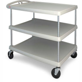 MY2636-35G Metro myCart; 3-Shelf Utility Cart with Chrome-Plated Posts - 40-1/4 x 27-11/16 Shelves -Gray