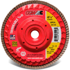 "30145 CGW Abrasives 30145 Trimmable Flap Discs with Built in Hub 4-1/2"" x 5/8-11"" 80 Grit Zirconia"