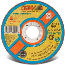 "36301 CGW Abrasives 36301 Cut-Off Wheel 5"" x 7/8"" 36 Grit Type 1 Aluminum Oxide"