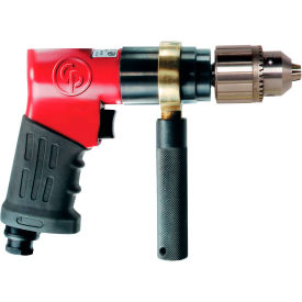 "8941097890 Chicago Pneumatic CP9789C, 1/2"" Pistol Air Drill, 0.37 HP, 800 RPM, 6 CFM, Reversible, 90 PSI"