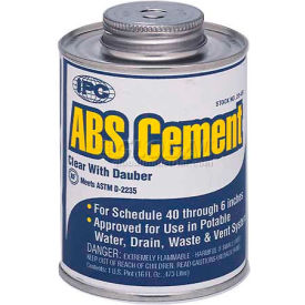 Low V.O.C. Abs Cement™, For Pipe & Fittings, 1/2 Pt.