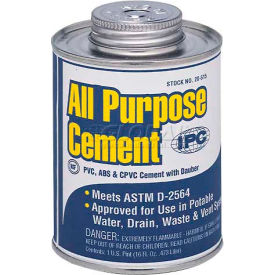 All Purpose Pvc, Cpvc & Abs Cement For Plastic Pipe & Fittings, 1/2 Pt.