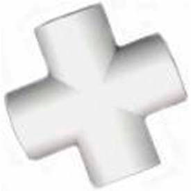 "cross fitting, 1-1/2""dia., furniture grade pvc, white Cross Fitting, 1-1/2""Dia., Furniture Grade Pvc, White"