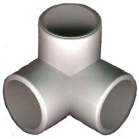 "3 way l fittings, 2""dia., furniture grade pvc, white 3 Way L Fittings, 2""Dia., Furniture Grade Pvc, White"