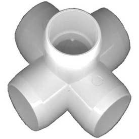 "5 way x fittings, 1-1/2""dia., furniture grade pvc, white 5 Way X Fittings, 1-1/2""Dia., Furniture Grade Pvc, White"