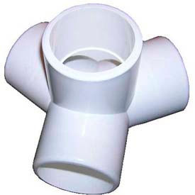 "table base fittings, 1-1/4""dia., furniture grade pvc, white Table Base Fittings, 1-1/4""Dia., Furniture Grade Pvc, White"