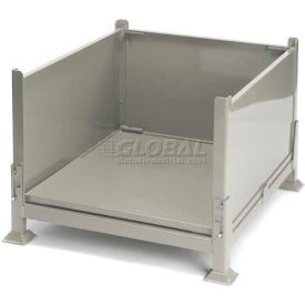"KDS-01 Davco KDS-01 Collapsible Sheet Metal Steel Container 40-1/2""x34-1/2""x26"" Zinc-Galv"
