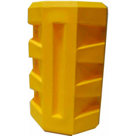 "CP-9R Poly Structural Column Protector, 9-1/4"" Round Opening, Yellow"