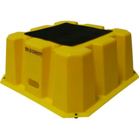 "NST-1-14 1 Step Nestable Plastic Step Stand - Yellow 25""W x 25""D x 10-1/2""H - NST-1-14"