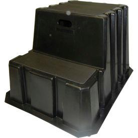 "NST-2-01 2 Step Nestable Plastic Step Stand - Black 25-3/4""W x 32-3/4""D x 20-1/2""H - NST-2-01"