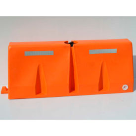 TB5-10 Diversified Plastics 5L Traffic Barrier, Polyethylene, Orange