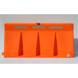 TB6-10 Diversified Plastics 6L Traffic Barrier, Polyethylene, Orange