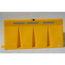 TB6-14 Diversified Plastics 6L Traffic Barrier, Polyethylene, Yellow