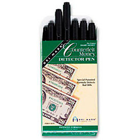 dri-mark® smart money counterfeit bill detector pen 351r-1 for us currency, price for 12/pack Dri-Mark® Smart Money Counterfeit Bill Detector Pen 351R-1 for US Currency, Price for 12/Pack
