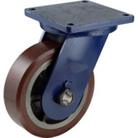 "darnell-rose r-120 series rigid plate caster rc-0126-010rs - rubber 10""dia. 1400 cap. lb. Darnell-Rose R-120 Series Rigid Plate Caster RC-0126-010RS - Rubber 10""Dia. 1400 Cap. Lb."