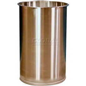 DM101001 DC Tech 55 Gallon Open Head Stainless Steel Drum without Lid DM101001