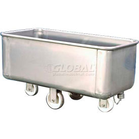 TKS08002 DC Tech Stainless Steel Bulk Truck with Drain & Cap TKS08002 800 Lb. Capacity