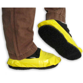 13033 PAWS Vinyl Stripping Shoe Covers, Mens, Yellow, Size 12+, 1 Pair