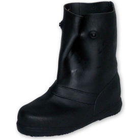 "treds 12"" rubber overboots, mens, black, size 14-16, 1 pair"