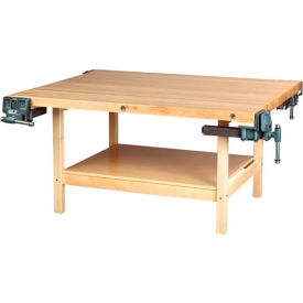 "diversified woodcrafts 96""w x 30""d woodworking bench, maple Diversified Woodcrafts 96""W x 30""D Woodworking Bench, Maple"