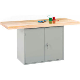 2-station workbench w/0 vises (double doors) - gray 2-Station Workbench W/0 Vises (Double Doors) - Gray