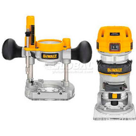 DWP611PK DeWALT 1.25HP Max Torque Variable Speed Compact Router Combo Kit, DWP611PK, 7.0 Amps, 1600-27000 RPM