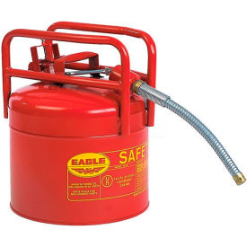 "eagle d.o.t. approved transport can with 5/8""flexible hose type ii red 5 gal., 1215sx5 Eagle D.O.T. Approved Transport Can with 5/8""Flexible Hose Type II Red 5 Gal., 1215SX5"