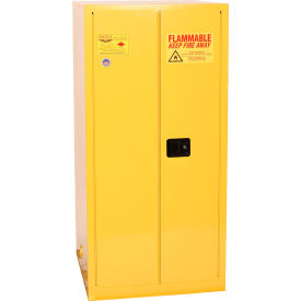 1926 Eagle Drum Storage Cabinet 55 Gallon Manual Close Vertical Flammable Yellow