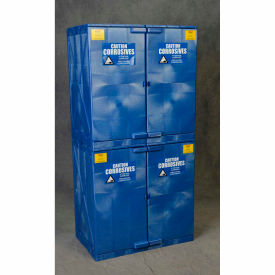 eagle poly acid & corrosive cabinet with manual close - 48 gallon Eagle Poly Acid & Corrosive Cabinet with Manual Close - 48 Gallon