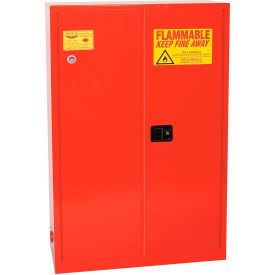 PI-47 Eagle Paint/Ink Safety Cabinet with Manual Close - 60 Gallon Red